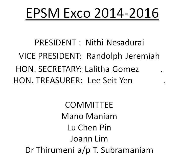 EPSM Exco 2012-2014